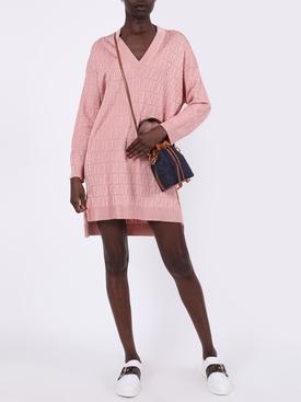 FF jacquard knit dress PINK