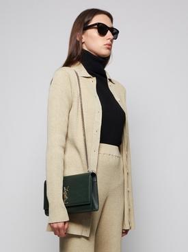 Medium Kate monogram shoulder bag green