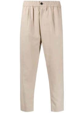 Cropped elasticized pants CLAY