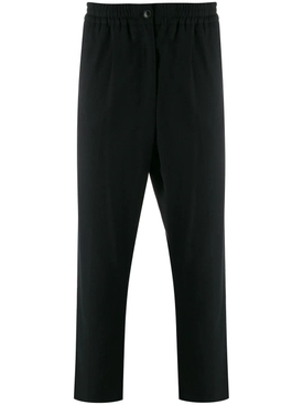 Cropped elasticized pants BLACK