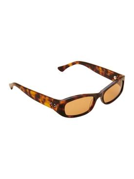 Leila Tortoiseshell Sunglasses Brown