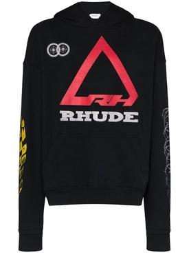 Rhonda logo print hoodie