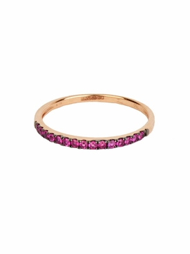 Rosa De La Cruz - 18kt Rose Gold Ruby Eternity Ring - Women
