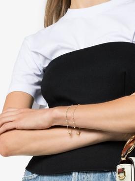 18kt Yellow Gold Pearl Link Bracelet