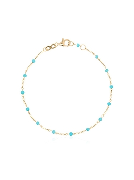 18kt Yellow Gold Turquoise Link Bracelet
