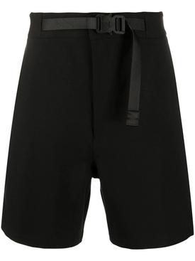 Black belted shorts