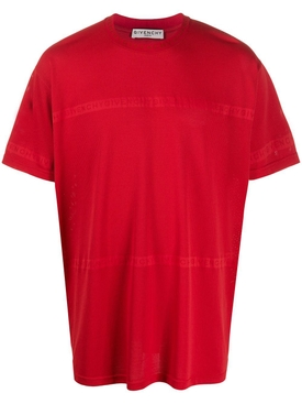 Over-sized Tonal Logo T-Shirt RED