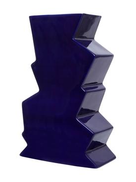 Navy jazz vase