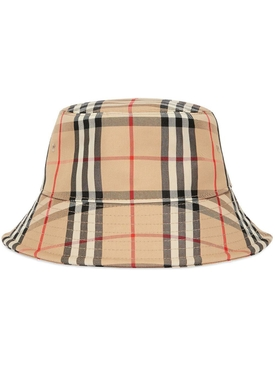 Neutral archive print bucket hat