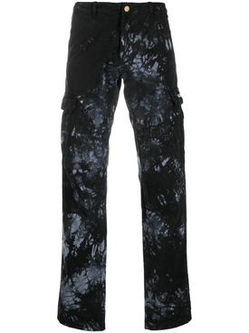 Midnight tie-dye cargo pants black