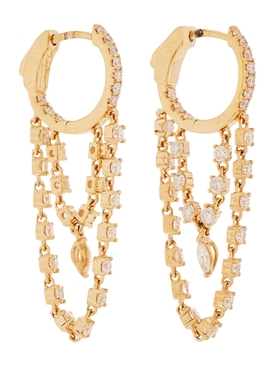 Sophia 18kt gold huggie earrings