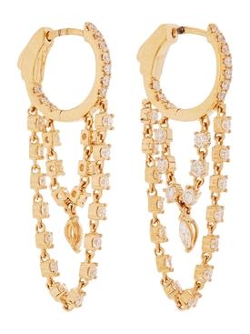 Sophia 18kt gold huggie earrings