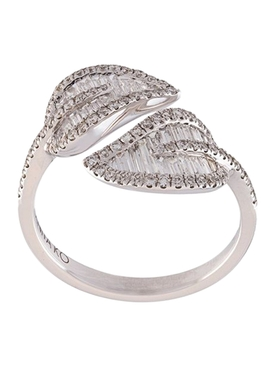 Anita Ko - 18kt White Gold Leaf Ring - Women