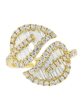 Anita Ko - 18kt Yellow Gold Diamond Leaf Ring - Women