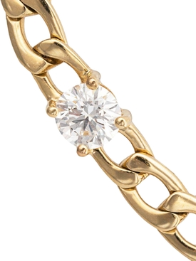18kt Yellow Gold Chain Link Diamond Bracelet