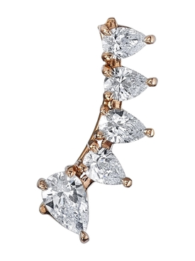 18kt Rose Gold Floating Diamond Earring