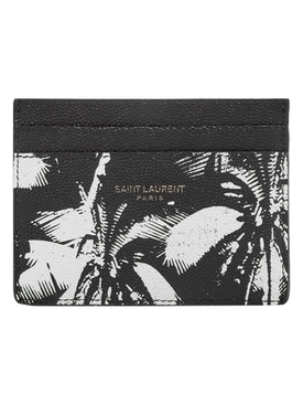 Black and White Palm Print Card Holder