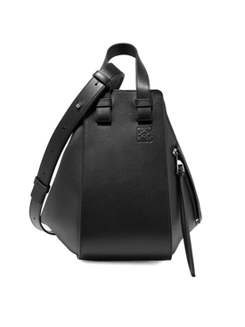 Small Leather Hammock Bag Black