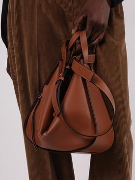 Small Leather Hammock Bag Tan