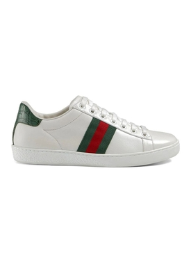 White ace leather sneakers