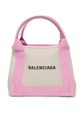 XS Cabas Bag Natural and Candy Pink