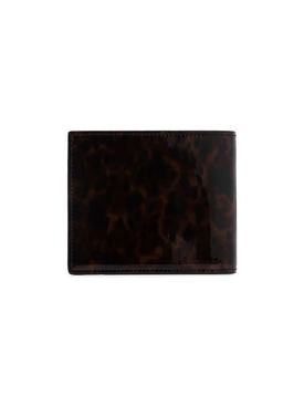 Tortoise Print Patent Leather Wallet