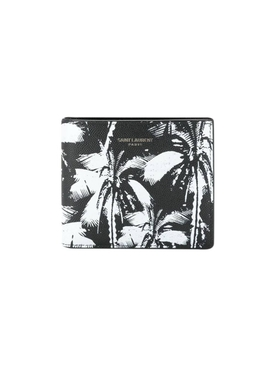 Black and white palm tree wallet