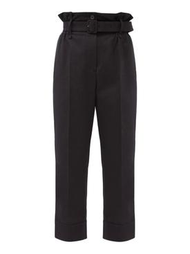 Black paper bag trousers