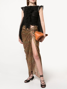 Louie Red Paisley Skirt
