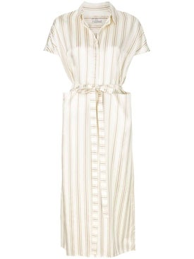 Co - Ivory Striped Dress - Women