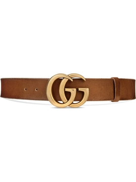 Brown double G logo belt