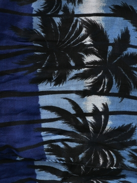 Over-sized Palm Tree Print Scarf BLUE