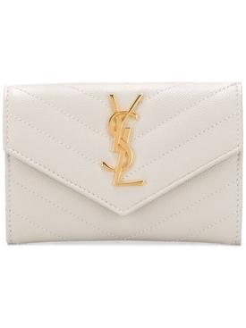monogram flap wallet crema soft