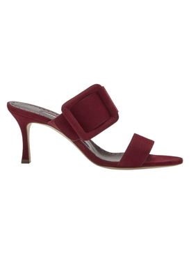 Dark Red Gable Sandals
