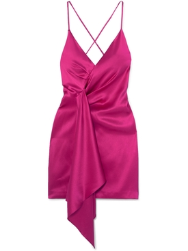 silk halter neck dress PINK