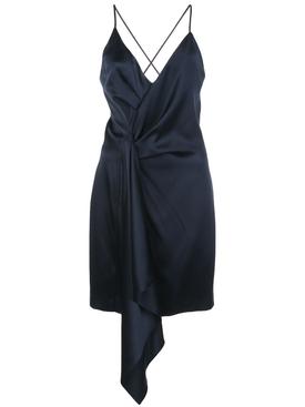 silk halter neck dress NAVY