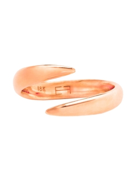 18kt Rose Gold Wrap Claw Open Pinky Ring