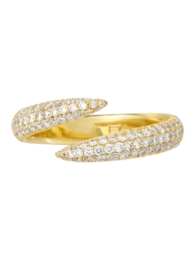 18k yellow gold and diamond wrap claw ring