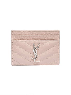 Saint Laurent - Marble Pink Monogram Card Holder - Women