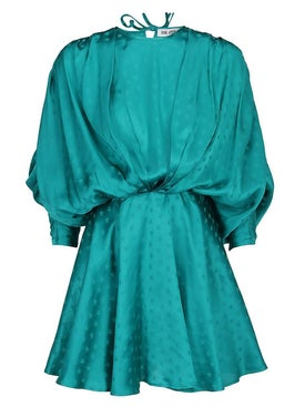 Attico - Dolman Sleeves Minidress Green - Mini