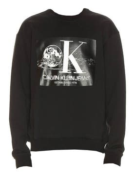 Calvin Klein Jeans Est.1978 - Black And White Graphic Sweatshirt - Men