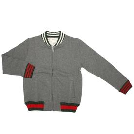 Kids Grey Bomber Jacket