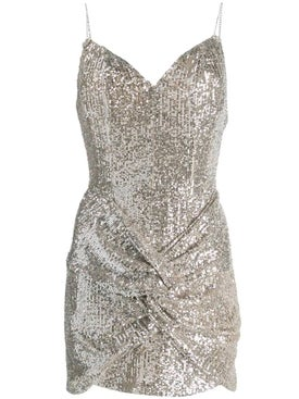 Magda Butrym - Deva Silver Sequin Dress - Women
