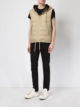 Beige Hooded Waistcoat NEUTRAL