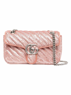 GG Marmont small sequin shoulder bag Light Pink
