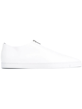 Medusa Zip Loafer Flats WHITE