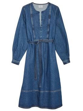 Co - Long Sleeve Denim Dress - Women