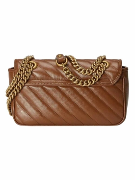 GG Marmont mini matelassé shoulder bag Strap: 12 inches; Width: 3.1 inches; Height: 6.2 inches