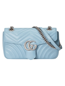 Light Blue GG Marmont shoulder bag