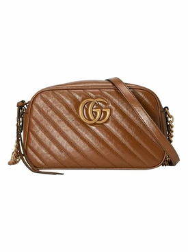 GG Marmont small matelassé shoulder bag Brown